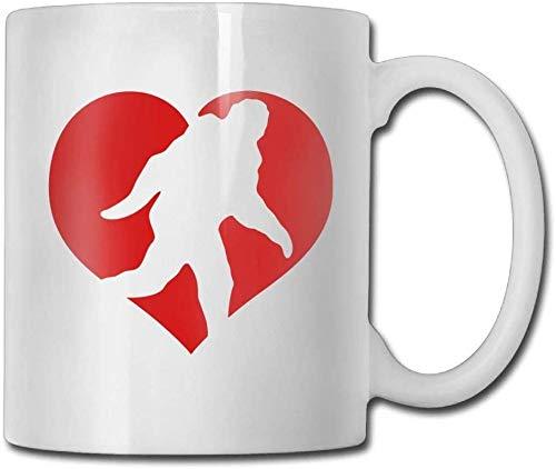 Heart Bigfoot Coffee Tugs 11 Oz Anniversary Gift Tazza da tè in ceramica Tazza da caffè 11oZ il regalo perfetto per la famiglia e gli amici