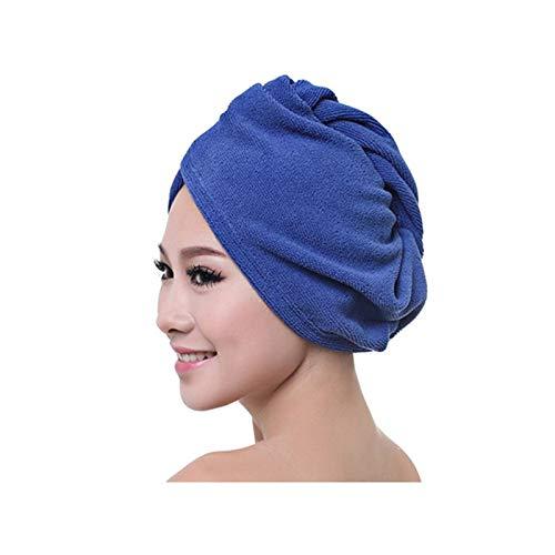 Gorros de ducha 1 unids Microfibra Toalla de baño Secado de cabello Wrap Womens Girls Lady's Toalel Sombrero rápido Sombrero Cap Turban Head Wrap Herramientas de baño ( Color : 06 , Size : 60x25cm )