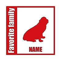 ForzaGroup 全犬種 全猫種対応 セントバーナード2 (134-41) 犬 イヌ 車 ステッカー 名前入れ