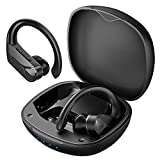 Bluetooth Earbuds, Flame Solo Wireless Earbuds Sport Bass+ Stereo Sound/Fast Charging&USB-C/28H Playtime/IPX7 Waterproof Bluetooth Headphones with Earhook, Wireless Earphones in Ear with Microphone