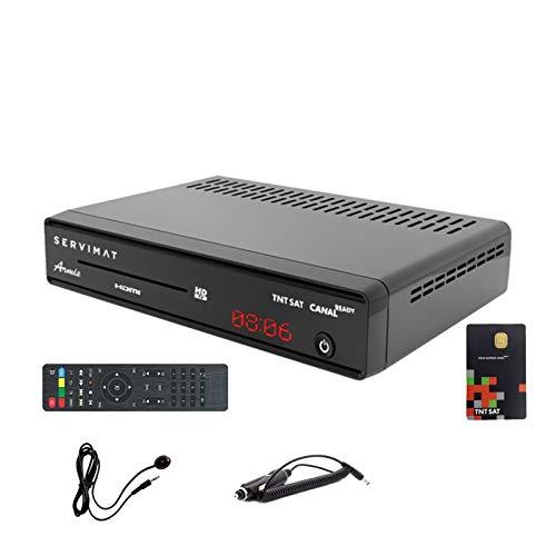 Servimat Satelliten-Receiver HD + Karte TNTSAT V6 + Kabel 12 V + IR-Ausgang