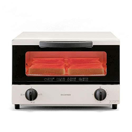 アイリスオーヤマ オーブントースター 4枚焼き 1200W タイマー機能付き ホワイト EOT-032-W