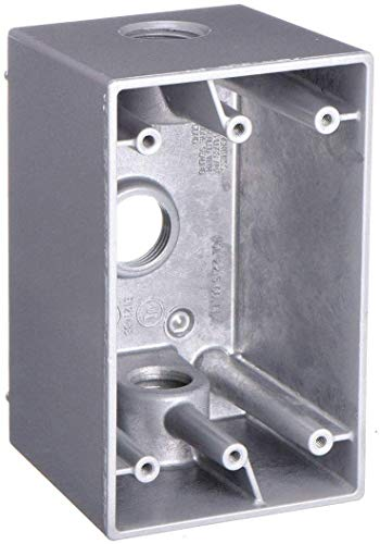 Bell 1-Gang (3) 1/2 in. Hole Electrical Box - Deep Gray