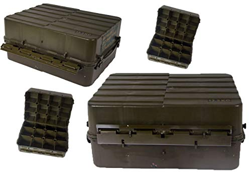 Schwedische Armee GEO Kiste Kunststoff Oliv gebraucht 42,5 x 31,5 x 19,5 Werkzeugkiste