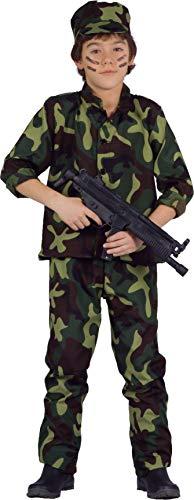 Ciao Militare Costume Bambino (Taglia Anni) Disfraces, Camuflaje, 9-11 años para Niños