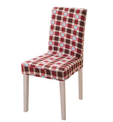 VYEKL Fundas para sillas de impresión a Cuadros Funda de Silla de Spandex Estiramiento elástico Asiento de Comedor Funda de Silla Universal para Banquetes de Cocina 4 Piezas