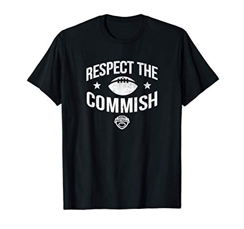 Mens ESPN Fantasy Football Respect The Commish White Logo T-Shirt