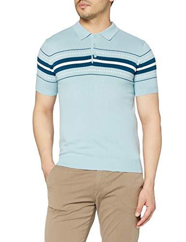 Merc of London Herren Tanner Poloshirt, Blau (Sky 009), Medium
