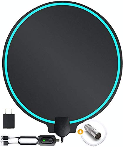 TV Antenna Improved Patented Round Shape supports up to 200 Miles Range, Support Fire Stick and Tv's, HDTV, 4K, 1080p, with USB Powered Boost Amplifier, Clear Picture, No Pixilation