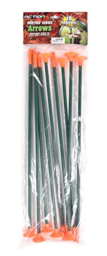 10 Pack Replacement Arrows – 16 Inch Long Arrow for Kids | Extra Replacement Arrows for Archery Bow Set – Maxx Action