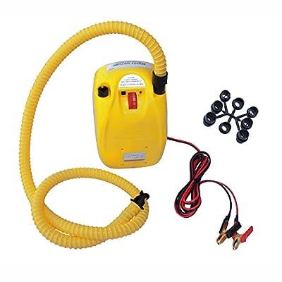 ALEKO BTEPUMP Electric Air Pump Portable Inflator Quick Fill 12V DC for Inflatable Boat Mattress Raft Pool Toys