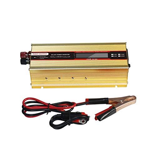 J-Love Inversor de Corriente de Onda sinusoidal Pura Peak 4000W DC 12V, Puerto de Carga USB y conexión Directa a la batería del Coche AC a 110V 220V