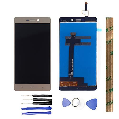 JayTong Schermo Display Completo LCD Digitizer Toccare Schermo Pannello Vetro Assemblea Parti di Ricambio con Strumenti Gratuiti per Xiaomi Redmi 3/3S/3X/3 PRO Oro
