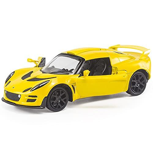 Maquetas de Coches 1:32 Modelo De Coche De Aleación Fundido A Presión Lotus Exige Scura Sportcar Colección De Vehículos De Metal En Miniatura Regalos para Niños Juguete De Navidad