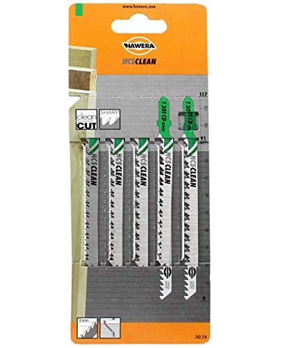 Hawera-Probst, Hawera Stichsägeblatt 3,0x85 mm HCS T 301 CD WOOD, Cleancut, Holz, Einnockenschaft, 5er-Pack