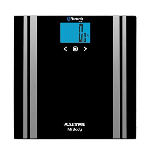 Salter Báscula analizadora con Bluetooth, Negro