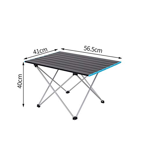 Mesa plegable ligera Mesa de camping al aire libre Picnic Portátil Mesa plegable Mesa de viaje Senderismo Mesa plegable de aleación de aluminio Muebles de camping para Camping / Banquete / Fiesta de p