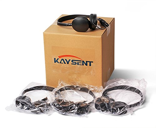 Wholesale Bulk Low Cost Earphone Earbuds Headphones - Kaysent(KHP-50) 50 Pack Wholesale Headphone for School,Airplane,Hospital,Students,Kids and Adults