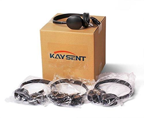 도 이어폰 이어폰 헤드폰-KAYSENT5 팩 도매 헤드폰을 위한 학교 비행기 병원 학생 어린이 및 성인(5 팩 BLACK)
