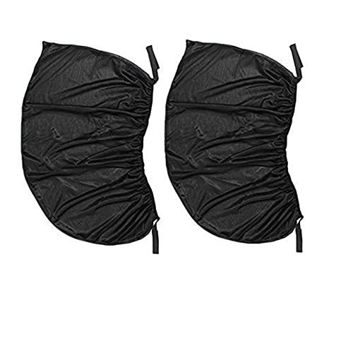 AutOcean Cortina de Coche Cortina de Gasa de Ventana Red de Sombra Prevención de los Rayos Ultravioleta Prevención de Mosquitos Tamaño SML XL Color Negro