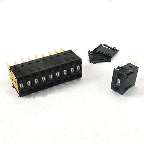 Dip Switch 10 Position,10pcs One Unit Decimal 0-9 Digital Pushwheel Switch Encoder Thumbwheel KSA-2