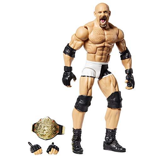 WWE - Elite Wrestlemania Figura de Acción Luchador Goldberg Juguetes Niños +8 Años (Mattel GKP54)