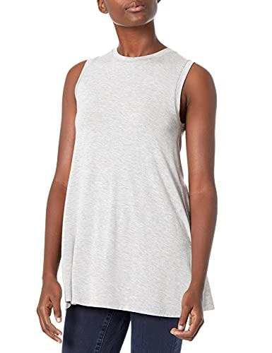 Amazon Brand - Daily Ritual Women's Jersey Muscle-Sleeve Swing Tunic, Light Heather Grey, Medium