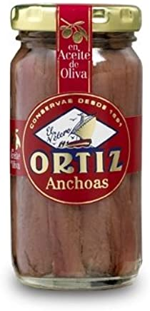 Ortiz Anchovy Fillets in Oil 95 Gram Jar