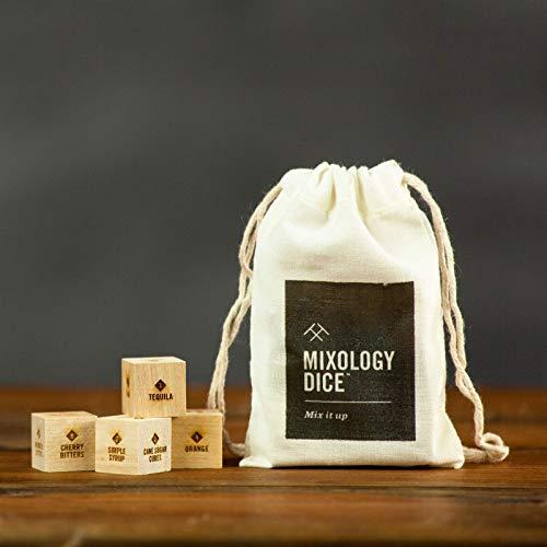 Mixology Dice® (pouch) // Bartender gift, bar gift, gift for boyfriend, him, men