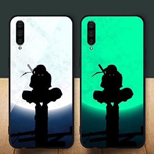 Funda para Teléfono,Estuche para iPhone con Cordón Estuche Protector Resplandor Nocturno Anime 3D Naruto Carcasa De Vidrio Templado Borde Suave Antifricción Compatible con iPhone 7Plus