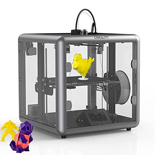 YILUFA CREALITY Ender 3D Printer All-Metal Extrusion All-Metal Extrusion 3D Printer Under Transparent Design (Sermoon D1)