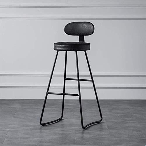 Sywlwxkq Barhocker Frühstückstheke Stühle Barhocker Weicher Sitz Barstühle Frühstücksküchentheke Stühle Metallbeine Barhocker Hohe Hocker mit Rückenlehne &...