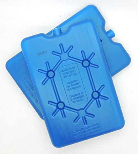 NEMT 2X Flacher Kühlakku 200 ml Kühlakkus 11 x 16,5 x 1,5 cm Kühlelemente Kühltasche Kühlbox