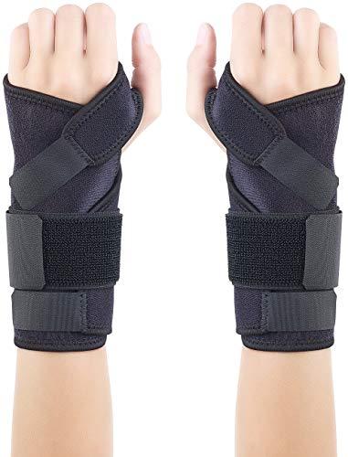 Speeron Handgelenkschoner: 2er-Set Handgelenk-Stützbandagen mit Schiene, links & rechts (Handgelenkbandage Fitness)
