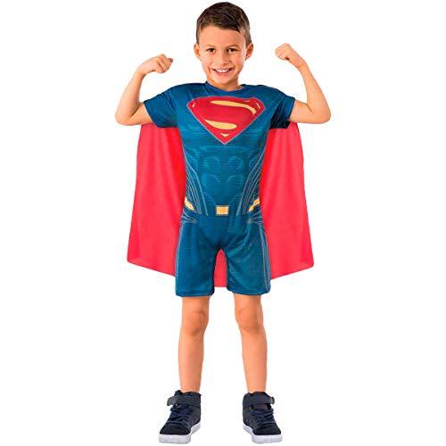 Fantasia Super Homem Infantil Original Curta Capa Removível (P 2-4)