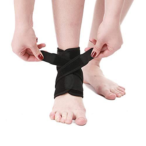 Yuccer Supporto Caviglia per Uomo Donna, Cavigliera Sportiva Elastica Regolabile Tutore Caviglia per Distorsione, Sport, Calcio (Nero)