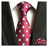 YSJJOSX Corbata para Hombre Juego de Corbatas para Hombres Lazos con Hijos Florales para Hombre Accesorios de Boda Cravate Silk Pie and Pocket Square Men's Set's Set (Color : 11)