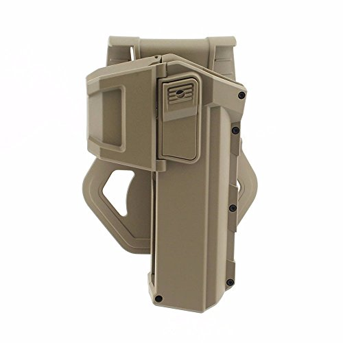 Gexgune Funda de Pistola táctica móvil para G17 G18 con Linterna o Funda de Pistola de Cintura Derecha montada con láser Serie Glock