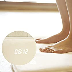 Alarm Clock for Heavy Sleepers, Rug Carpet Alarm Clock - Digital Display,Pressure Sensitive Alarm Clock with The Softest Touch for Modern Home, Kids, Teens, Girls and Guys(40 x 38cm,white,White)