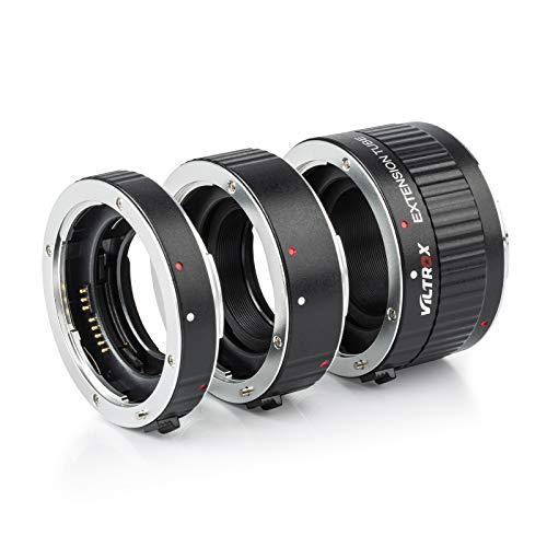 Viltrox Metal Mount Auto Focus AF Macro Extension Tube Ring Set 12mm 20mm 36mm for Canon EF EF-S Lens DSLR Camera 760D 700D 80D 70D 5DII 5DIII 1300D