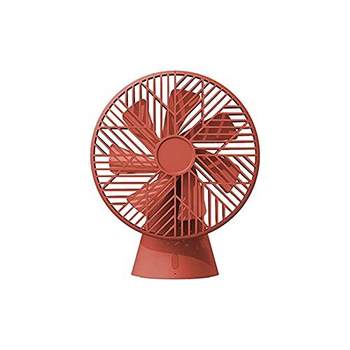 ZJSXIA Ventilador silencioso de sobremesa SuperWind con 7 hojas de viento 90° Dirección del viento ajustable 3 engranajes Sotwing extraíble para limpieza ventilador pequeño (color: rojo)