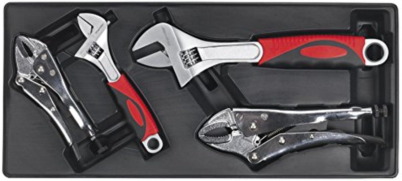 Sealey TBT04 Werkzeug Tablett mit 4er Set Gripzange und Verstellbarer Einmaulschlüssel B001BJJX7A | Online Outlet Store