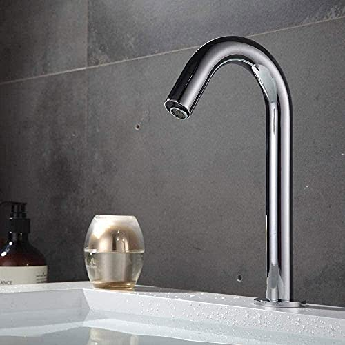 Grifo táctil en el cuarto de baño Grifos Grifos de sensor infrarrojo inteligente totalmente automático Grifo de inducción caliente y fría cobre materias primas adecuadas para baño familiar Hotel Baño