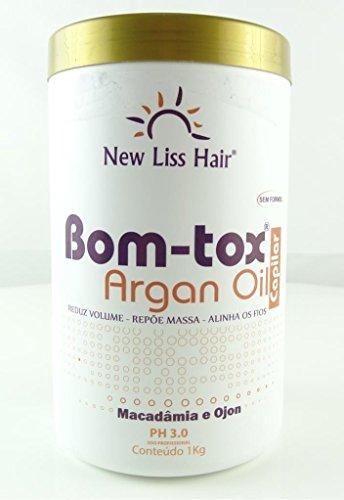 Bom-tox Capilar Huile d'argan | Brosse progressive | Traitement capillaire à la kératine | Blow Out 1 kg New Liss Hair
