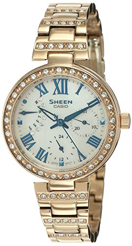 Casio Sheen Analog Mother of Pearl Dial Women's Watch