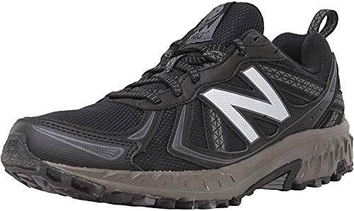 New Balance Men's 410 V5 Trail Running Shoe, Black/Thunder, 11 XW US