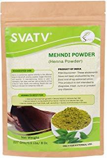SVATV Natural Henna Powder II 227g Mehndi Mail order cheap low-pricing Inermis Lawsonia