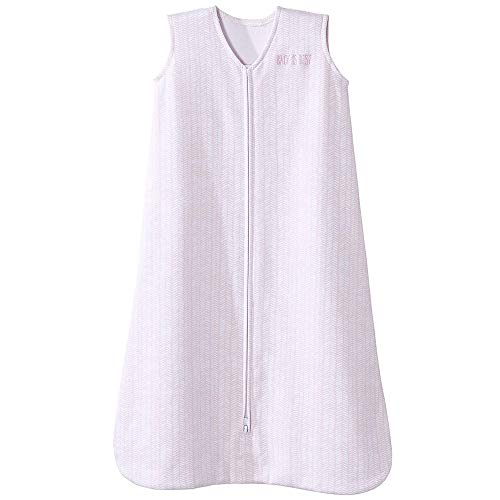 Halo Sleepsack Cotton Wearable Blanket, TOG 0.5, Pink Feather, Medium