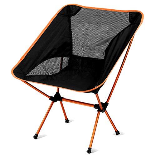 Conjunto de Silla de Mesa de jardín Camping al Aire Libre Mesa Plegable con sillas Portátiles Portátil Mochila Playa Picnic Picnic Set (Color : Orange Chair)