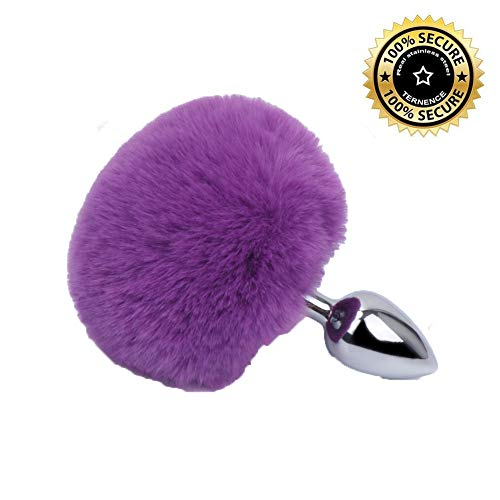 S&M Game toys for Couples Artificial Simulation Rabbit Tail - Anales Plug Massage Trainer for Beginners - Party Spoof Toys Purple By Heatop